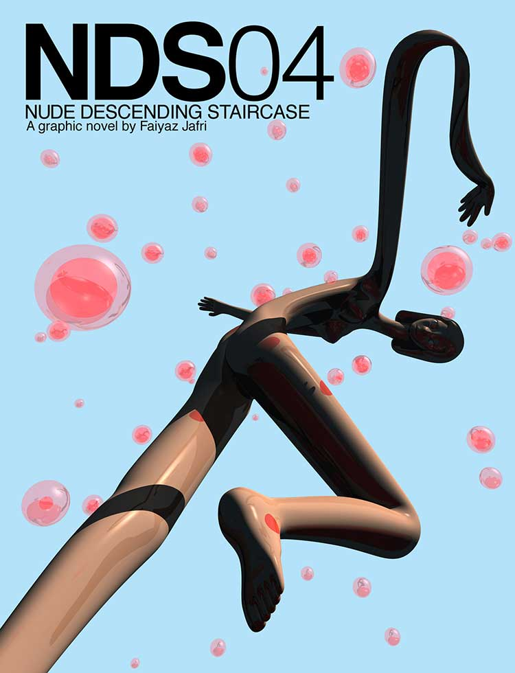 Cover for NDS04 Deformed nude girl with red bubbles