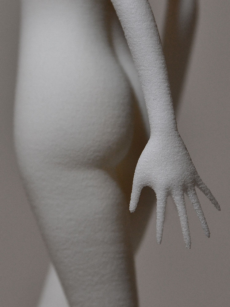 Butt and hand detail close up Disconnector dancing girl