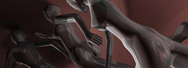 NDS 13 Nude Descending Staircase, Transgender spermatozoa running
