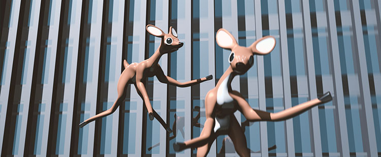 This Ain't Disneyland, jumping deer of the World Trade Centre