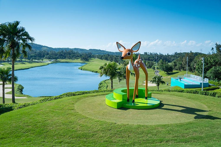 Mobile Fawn by Faiyaz Jafri commissioned by the Fubon Art Foundation ate the LPGA Taiwan 2015